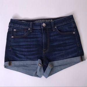 Like-New American Eagle Hi-Rise Shortie Shorts, 8